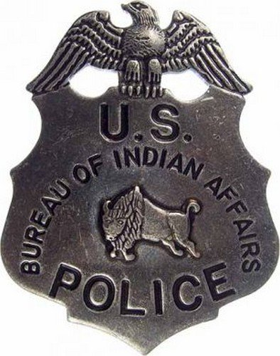 Deluxe Western Silver Badge - US Indian Territory Marshal