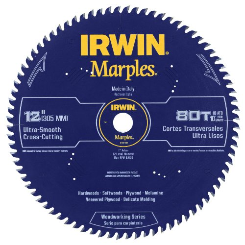 Irwin Tools  1807384 Marples Laser Cut 12-Inch 80-Tooth Hi-Alternate Tooth Bevel Circular Saw Blade (80 Tooth 12 Inch Miter Saw Blade compare prices)