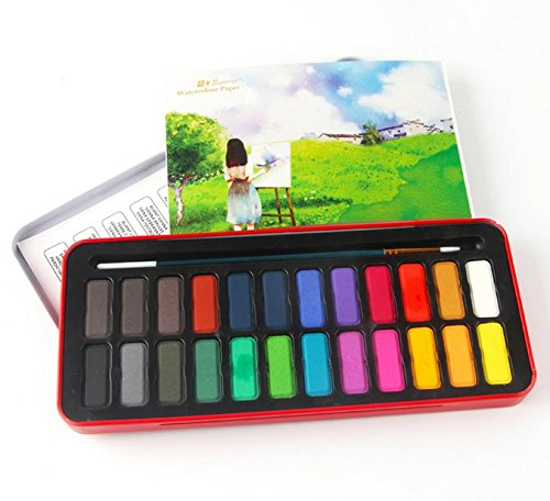 as 24 watercolor paint set for kids adults beginners and
