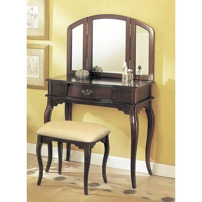 William's Home Furnishing Espresso Tri-mirror Vanity