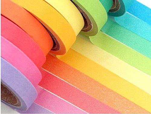 tkmell-10xroll-decorative-diy-tape-washi-rainbow-candy-color-sticky-paper-masking-adhesive-tape-scra