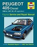 Peugeot 405 Repair Manual Haynes Manual Service Manual Workshop Manual 1988-1997