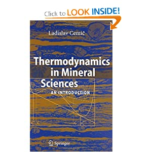 Thermodynamics in Mineral Sciences Ladislav Cemic