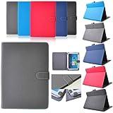 Étui Housse Support Clapet Protection Universelle Simili Cuir Pour Tablette 9,7 Pouces 10,1 Pouces iPad 2 3 4 - Gris