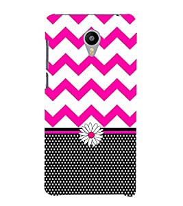 Blaky Dots Chevron 3D Hard Polycarbonate Designer Back Case Cover for Meizu M2