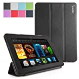 Poetic Slimline Case for New Kindle Fire HDX 7 (2013) 7inch Tablet Black (With Smart Cover Auto Sleep / Wake Feature) (3 Year Manufacturer Warranty From Poetic)