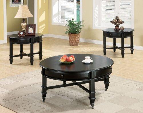 Image of Austine End Table in Black Finish (B003XRBU5Q)