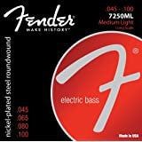 Fender 7250ML Nickel Plated Steel Roundwound Long Scale Electric Bass Guitar Strings - Medium Light