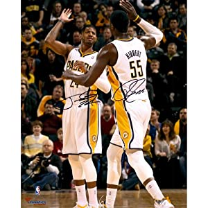 Paul George & Roy Hibbert Indiana Pacers Dual Autographed 16