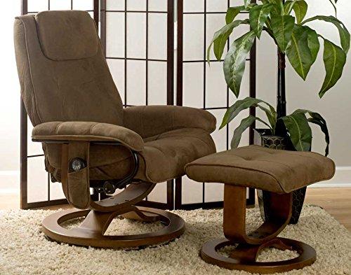 Relaxzen 60 078011 Deluxe Leisure Recliner Chair With 8 Motor Massage U0026  Heat, Brown