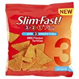 Slim Fast Snack Bag BBQ Tortillas - 22g, Pack of 12