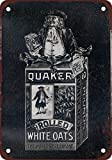 1896 Quaker Oats Vintage Look Reproduction Metal Tin Sign 12X18 Inches