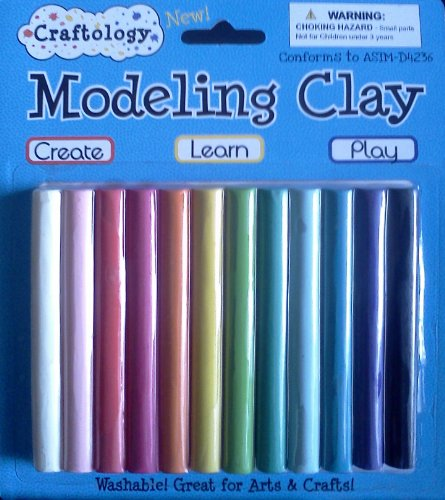 Modeling Clay ~ Washable! ~ New Craftology ~ 12 Colors