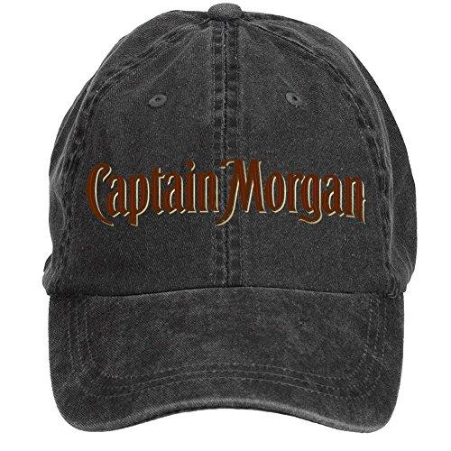 creetive-idea-adult-unisex-captain-morgan-logo-adjustable-custom-baseball-cap-black