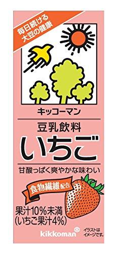 キッコーマン飲料 豆乳飲料 いちご 200ml×18本