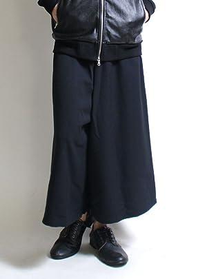ガウチョパンツ 日本製 メンズ ブラック フリーサイズ
