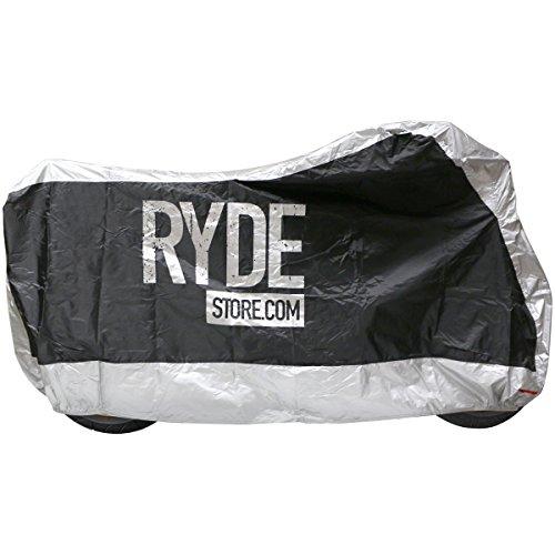 Ryde-Couverture-Impermable-en-NoirArgent-de-Moto-Extra-Grand