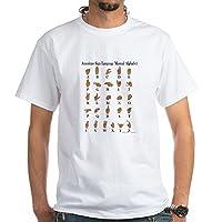 CafePress Sign Language Alphabet White T-Shirt