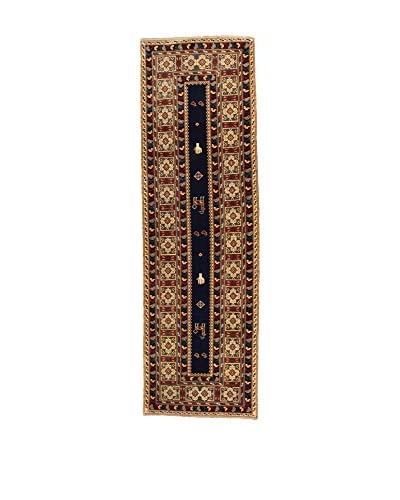 Eden Carpets Alfombra Shirvan Azul/Multicolor 334 x 101 cm