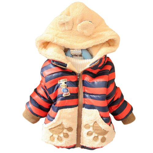 Little Hand Kids Girls Boys Teddy Coats Bear Jumpers Winter Jackets 1-3 Year Red 120