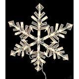 16 Lighted Snowflake Christmas Window Silhouette Decoration