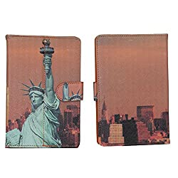 Brain Freezer Liberty 7 Inch Flip Flap Case Cover Pouch Carry For Xolo Play Tab 7.0 Case Orange