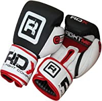 Authentic RDX Leather Boxing Gloves Gel Mold,MMA Size 10oz, 12oz, 14oz, 16oz from RDX