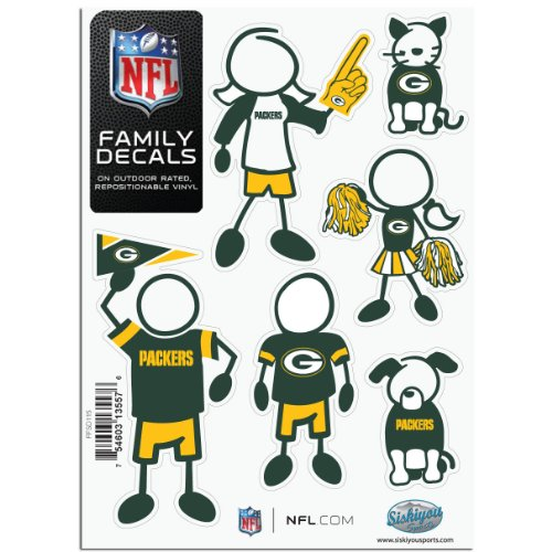 NFL Green Bay Packers Medium Family Decal Set