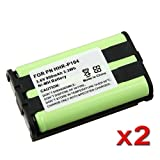 eForCity 2 x Phone Battery for Panasonic HHR-P104 HHR-P104A Newby eforcity