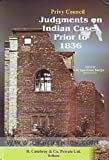 img - for Privy Council Judgments on Indian Cases Prior to 1836 book / textbook / text book