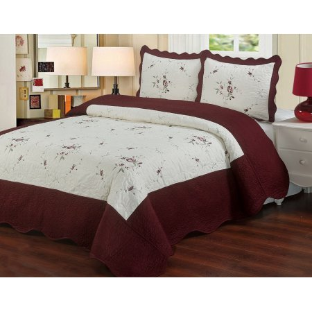 lauras-microfiber-embroidered-3-piece-quilt-set