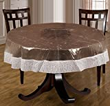 Bianca Premium 3D PVC 4 Seater Round Table Cloth - White