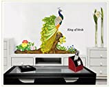 Oren Empower Multicolor Peacock PVC Vinyl Large Wall Sticker