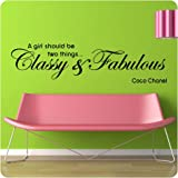 48&quot; Coco Chanel Classy and Fabulous - WALL STICKER DECAL QUOTE ART MURAL Large Nice