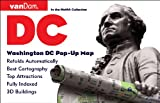 Pop-Up Washington DC Map by VanDam - City Street Map of Washington DC - Laminated folding pocket size city travel and transit map