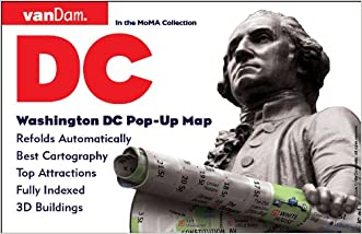Pop-Up Washington DC Map by VanDam - City Street Map of Washington DC - Laminated folding pocket size city travel and transit map