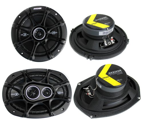 """2) Kicker 41Dsc654 6.5"""" 240W 2-Way + 2) 41Dsc6934 6X9"""" 360W 3-Way Car Speakers"""