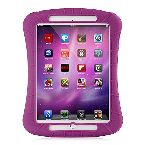 iXCC ® Shockproof Silicone Protective Case Cover for Apple 2014 iPad Air 2 [Drop Proof, Kids Proof, Shock Proof, Anti slip] - Purple (Cool Ipad Air 1 Cases compare prices)