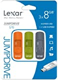 Lexar JumpDrive S70 8GB Retractable USB Flash Drive LJDS70-8GBASBNA003 - 3 Pack