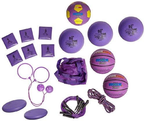 Sportime Recess Packs - 19 Pieces - Kindergarten - Violet front-989528