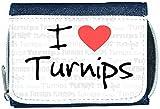 I Love Heart Turnips Denim Wallet