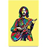 EzyPRNT Guitarist Pop Art Printed Wall Poster (Size: 16x24 Inch)