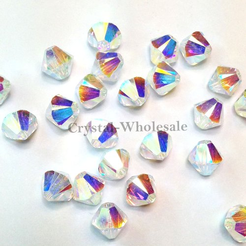 swarovski Crystal 4mm 5301# Bicone Beads red ab 500pcs