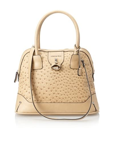 London Fog Women's Lark Dome Satchel, Sand