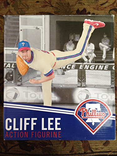 cliff-lee-action-figurine-blue-hat-red-brim-white-uniform-blue-red-stripes-red-shoes