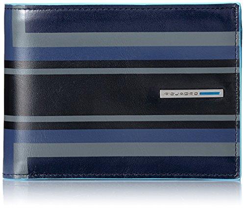 Piquadro Blue Square Portafoglio, Pelle, Blu, 12 cm