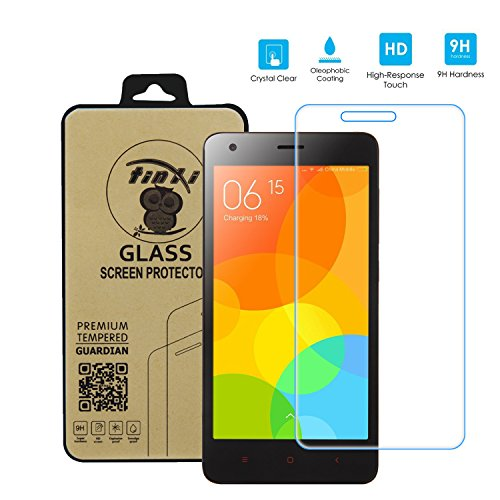 tinxi® Protezione invisibile per XIAOMI Hongmi 2 Redmi 2/ Redmi 2 Pro Pellicola in vetro temperato Superba protezione Salvaschermo e Film protettiva ultra-duro vetro 9H 2,5D