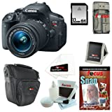 Canon EOS Rebel T5i 18.0 MP CMOS Digital Camera with EF-S 18-55mm f 3.5-5.6 IS STM Zoom Lens + 7pc Bundle 32GB Accessory Kit