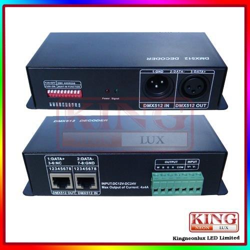 Dmx512 Decoder 4Ch For Rgb Led Strip 12V-24V Dc