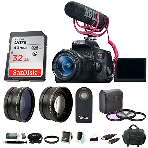 Canon EOS Rebel T6i DSLR Video Creator Kit with 18-55mm Lens & Accessory Bundle